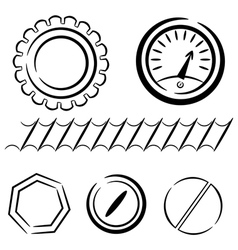 Cartoon set of industrial elements eps10 vector