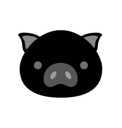 cute pig isolated icon vector image