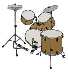 Golden percussion set vector