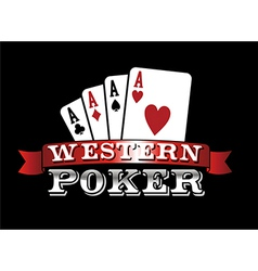 Four aces poker icon vector
