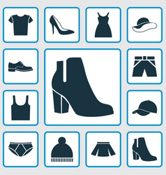 Dress icons set collection of briefs trunks vector