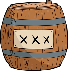 Barrel of gunpowder vector