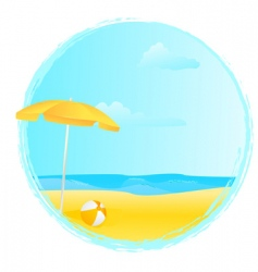 Summer banner with umbrella vector