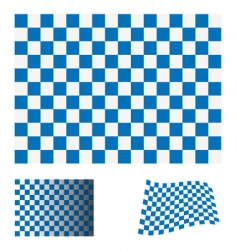Checkered blue flag vector