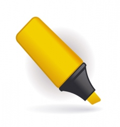 Yellow pen vector