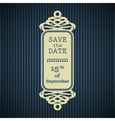 Save the date frame vector image