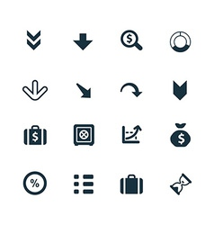 Crisis icons set vector