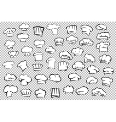 Chef toques and baker hats set vector