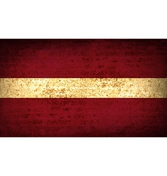 Flags latvia with dirty paper texture vector