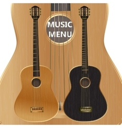 Acoustic guitar closeup vector
