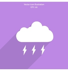 Weather web flat icon vector