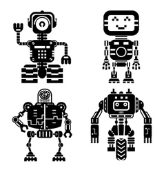 Robot icons set artificial intelligence vector