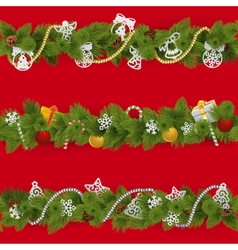 Christmas borders vector