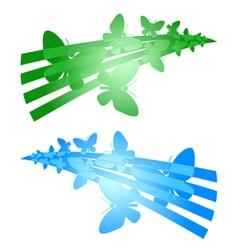 Butterflies symbols vector