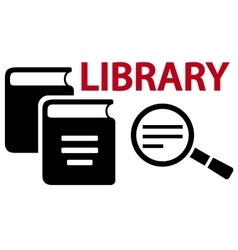 Concept library icon vector
