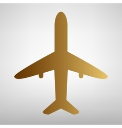 Airplane sign flat style icon vector