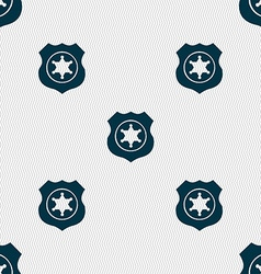 Sheriff star icon sign seamless pattern with vector