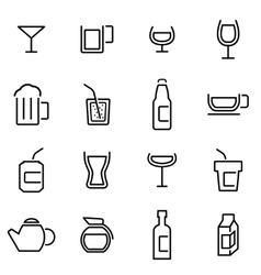 Thin line icons - beverages vector