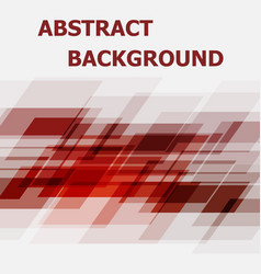 Abstract red geometric overlapping design vector