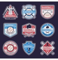 Baseball colored emblems vector