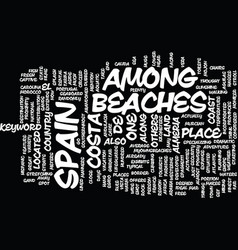 Beaches of bermuda text background word cloud vector
