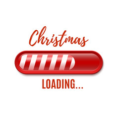 Christmas loading bar isolated on white background vector