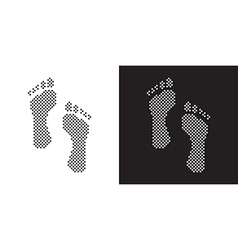 Dotted footprints vector