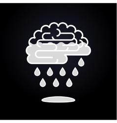 Drops falling from brain vector