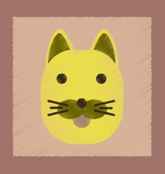 Flat shading style icon cartoon cat vector