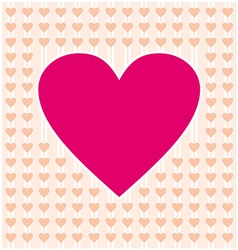 Frame border shaped from pink heart and orange vector