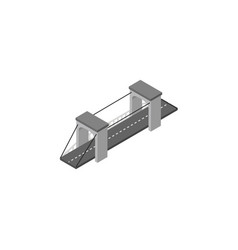 isolated bridge isometric highway element vector image vector image