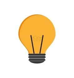 Light bulb yellow energy power icon vector