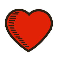 love heart romantic feeling emotion image vector image vector image