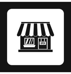 Supermarket building icon simple style vector image vector image
