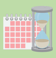 Time management flat vector