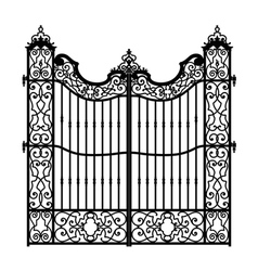 vintage swirled gate vector image