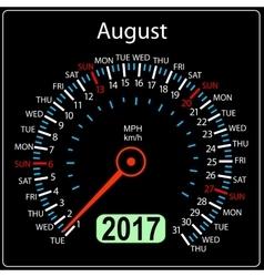 Year 2017 calendar speedometer car in vector