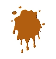 Caramel stain icon vector