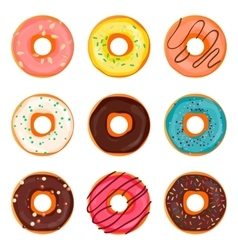 Donut  donut isolated on a vector