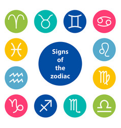 Signs of the zodiac vector