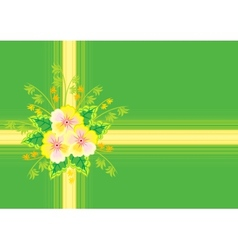 Abstract flowers with ribbon and background vector image
