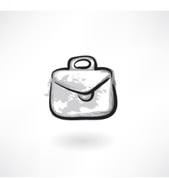 case grunge icon vector image