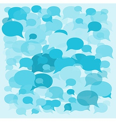 Background speech bubbles vector