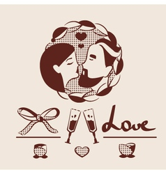 Man and woman couple in love vector