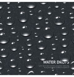 Water Drops Seamless Pattern vector image