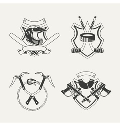 Set of extreme sports emblems badges labels and vector