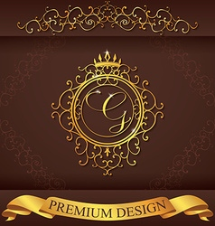 Letter g luxury logo template flourishes vector