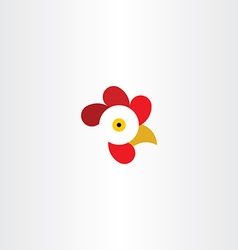 Chicken or rooster head logo vector