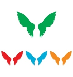 Wings sign colorfull set vector