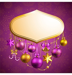 beautiful christmas background vector image vector image